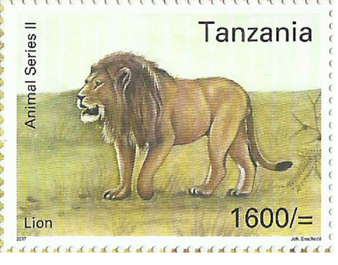 Souvenir sheet - Lion - Philately Tanzania stamps