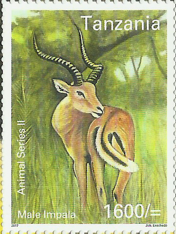 Fauna-Male Impala - Philately Tanzania stamps