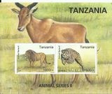 Souvenir sheet - Cheetah - Philately Tanzania stamps