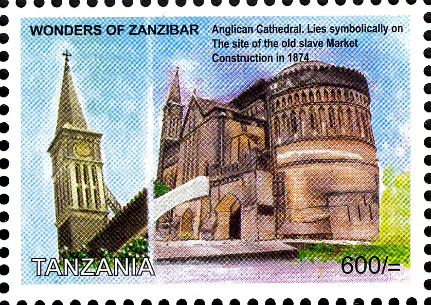 Anglican Cathedral - Philately Tanzania stamps