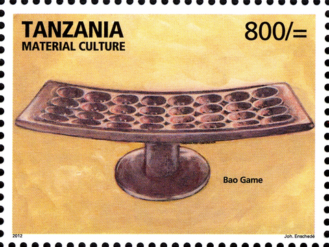 Bao game - Philately Tanzania stamps