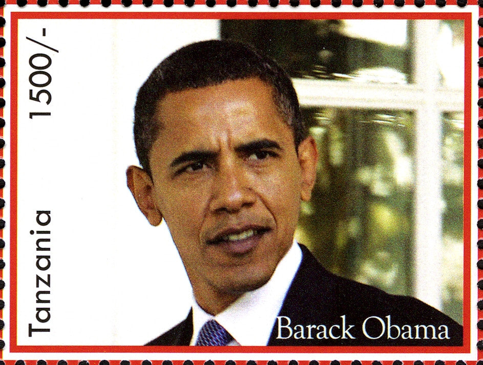 Barack Obama -44th President of the United States - Philately Tanzania stamps