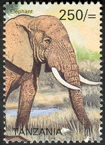 Big five - Elephant - Philately Tanzania stamps