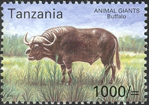 Animal Giants - Buffalo - Philately Tanzania stamps