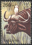 Big five - Buffalo - Philately Tanzania stamps