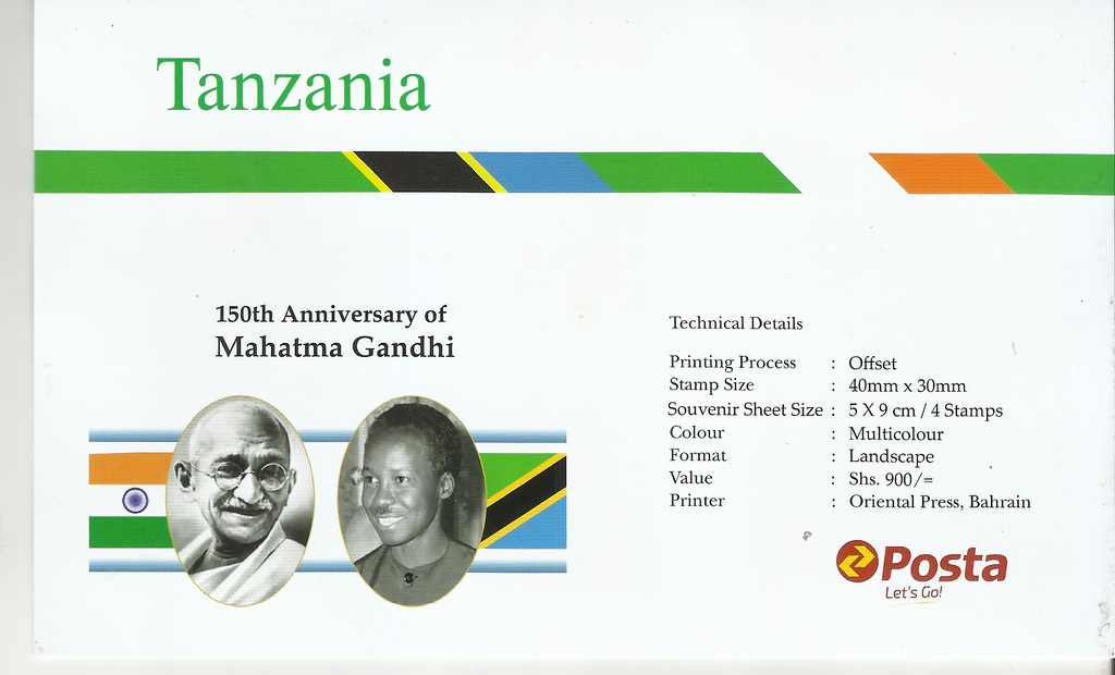 150th Anniversary of Mahatma Gandhi -Philatelic Card