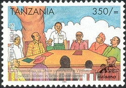 Childrens Rights II - Involve children in school development - Philately Tanzania stamps