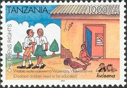 Childrens Rights II - Disabled children need to be educated - Philately Tanzania stamps