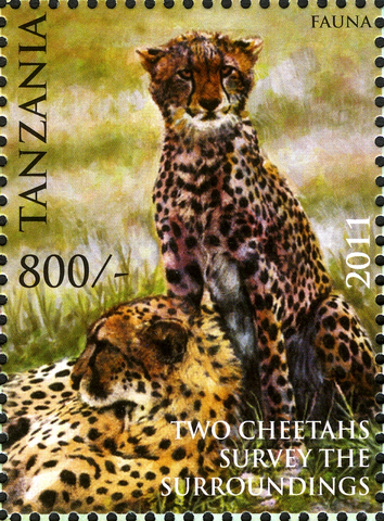 Cheetahs - Philately Tanzania stamps