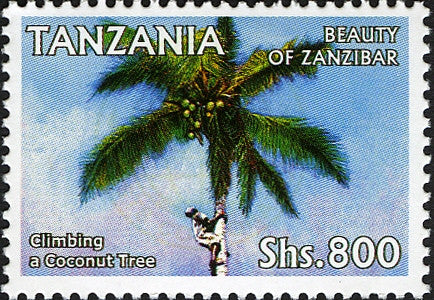 Coconut Tree  Beuty of Zanzibar - Philately Tanzania stamps