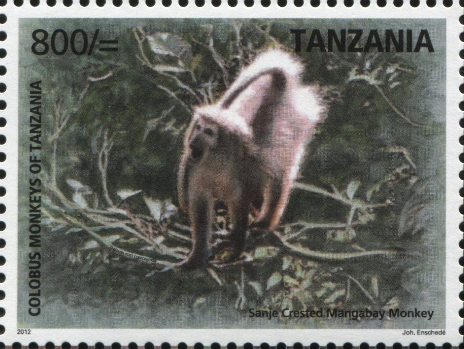 Black & White Colobus - Philately Tanzania stamps