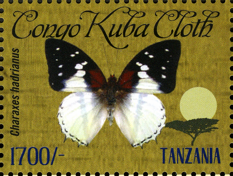Butterflies of Africa - Charaxes hadrianus - Philately Tanzania stamps