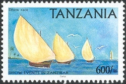 Dhow Events in Zanzibar - Dhow Race - Philately Tanzania stamps