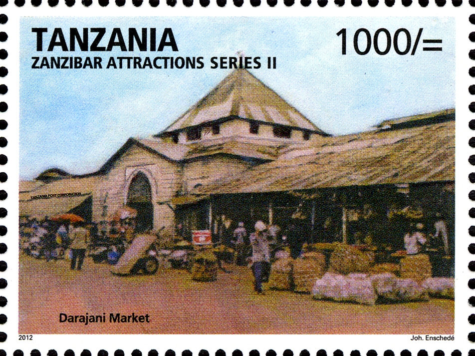 Darajani market - Philately Tanzania stamps