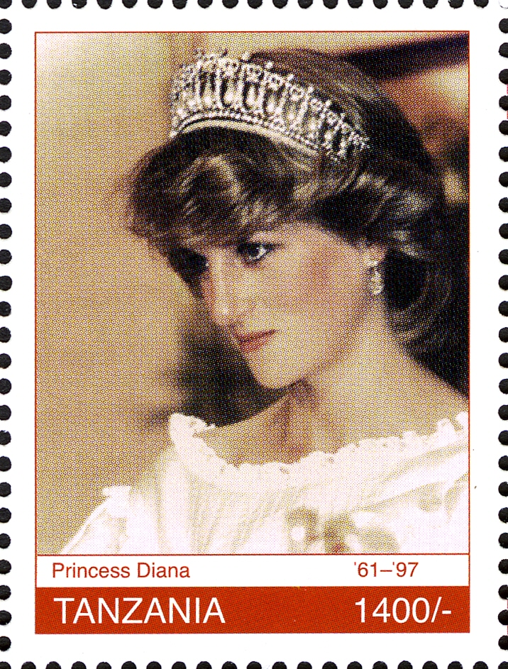 Royal Family- Princess Diana - Philately Tanzania stamps