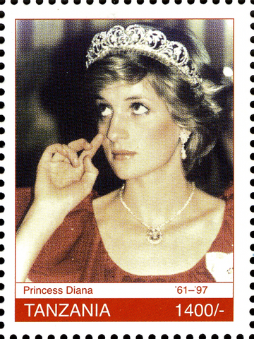 Royal Family-Princes Diana - Philately Tanzania stamps