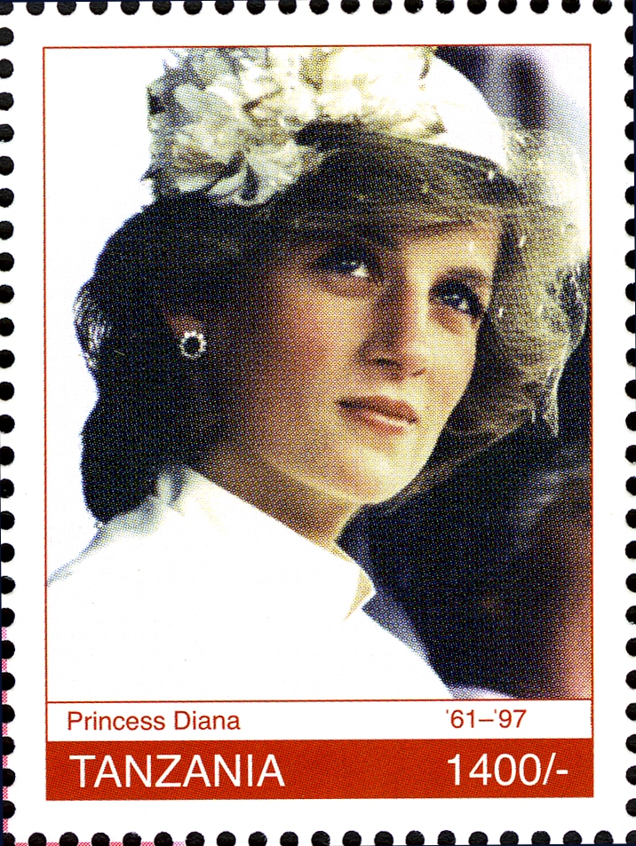 Royal Family - Princes Diana - Philately Tanzania stamps