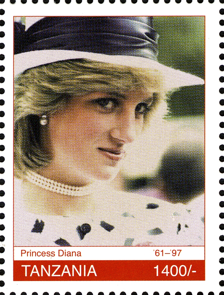 Royal Family Princess Diana - Philately Tanzania stamps