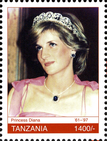 Royal Family - Princess Diana Memoriam - Philately Tanzania stamps