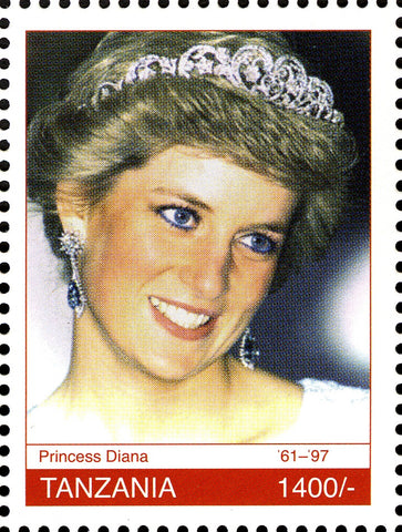 Royal Family- Princess Diana Memoriam - Philately Tanzania stamps