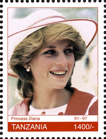 Royal Family-Princess Diana - Philately Tanzania stamps