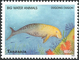 Big Water Animals-Dugong - Philately Tanzania stamps