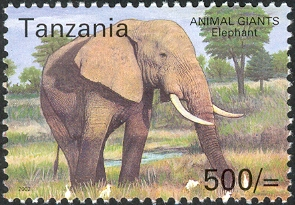 Animal Giants - Elephant - Philately Tanzania stamps