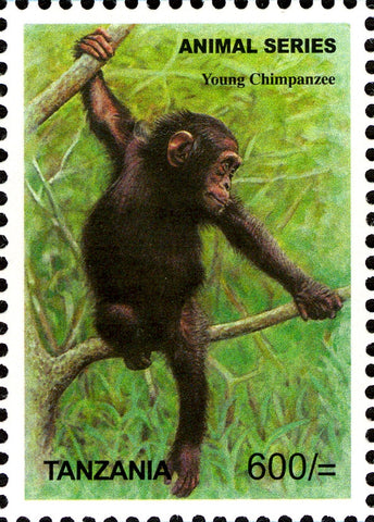Fauna-Mammals-Chimpanzee - Philately Tanzania stamps