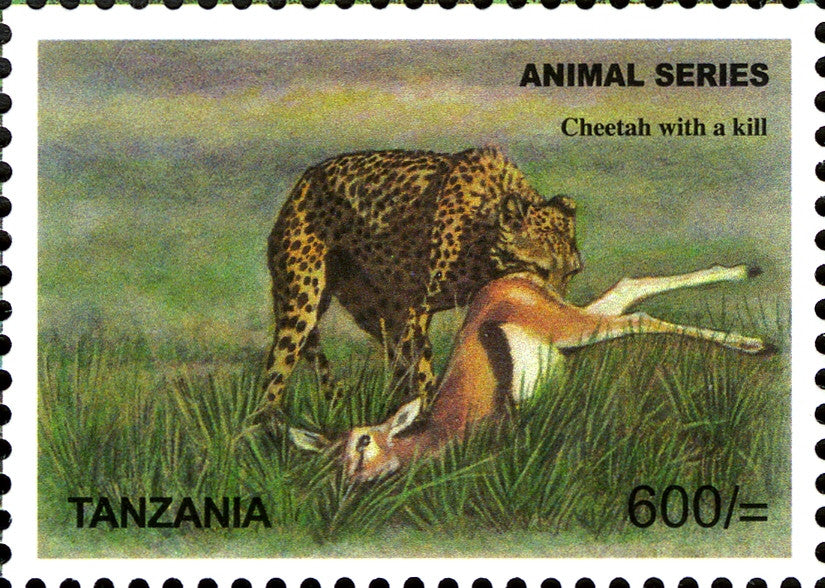 Fauna Mammals-Cheetah - Philately Tanzania stamps