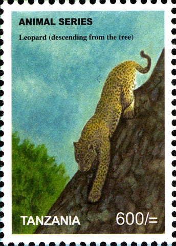 Fauna Mammals-Leopard - Philately Tanzania stamps