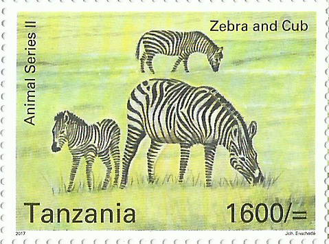 Fauna-Zebra and Cub - Philately Tanzania stamps