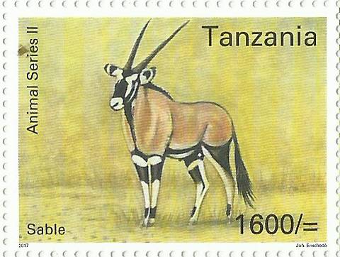 Fauna-Sable - Philately Tanzania stamps