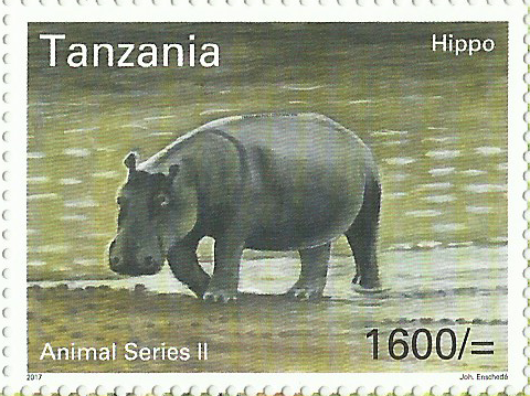 Fauna-Hippo - Philately Tanzania stamps