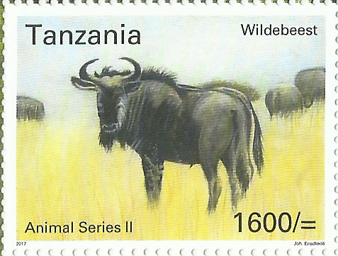 Fauna-Wildebeest - Philately Tanzania stamps