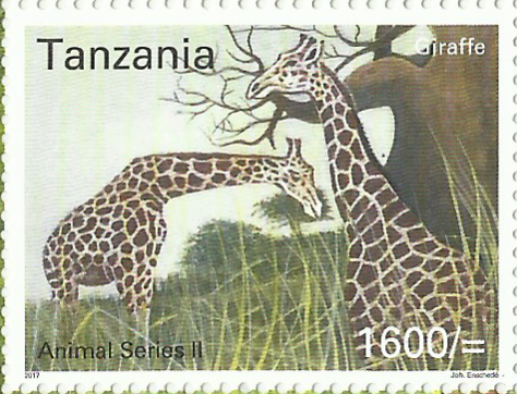 Fauna-Giraffe - Philately Tanzania stamps