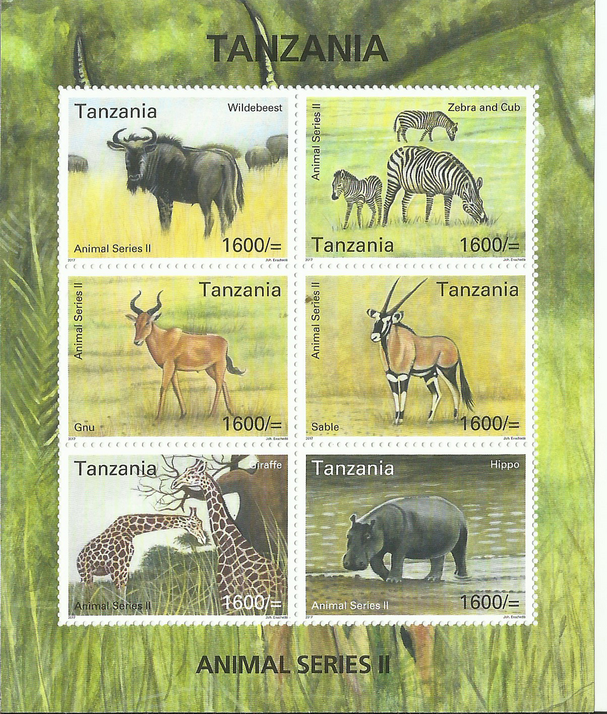Fauna-  Animal Series II Sheetlet - Philately Tanzania stamps