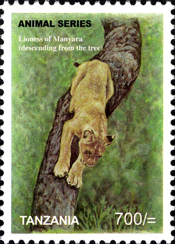 Fauna Mammals-Lioness - Philately Tanzania stamps