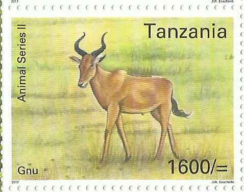 Fauna-Gnu - Philately Tanzania stamps