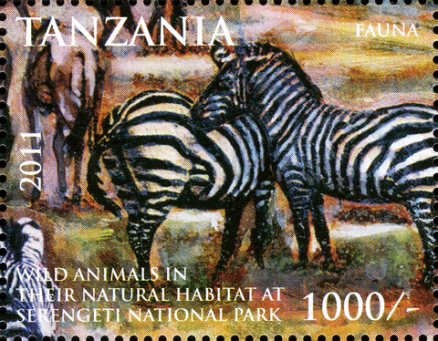 Zebra - Serengeti National Park - Philately Tanzania stamps