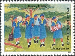 Girl Guiding in Tanzania - Philately Tanzania stamps