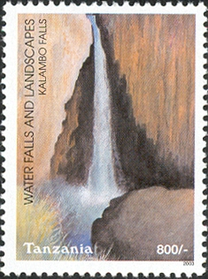 Waterfalls -Kalambo - Philately Tanzania stamps