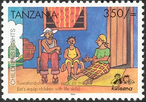 Children Rights - Philately Tanzania stamps