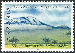 Tanzanian mountains - Mount Kilimanjaro - Philately Tanzania stamps