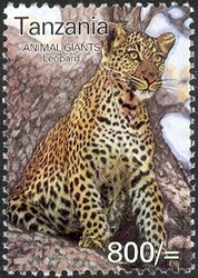 Animal Giants - Leopard - Philately Tanzania stamps