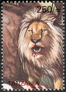 Big five - Lion - Philately Tanzania stamps