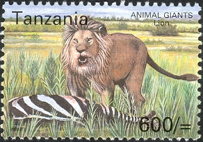 Animal Giants - Lion - Philately Tanzania stamps