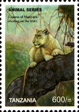 Fauna Mammals -Lioness - Philately Tanzania stamps
