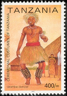 Lizombe dancer - Philately Tanzania stamps