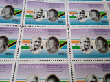 150 Anniversary of Mahatma Gandhi - Stamps Sheet with 50 Stamps