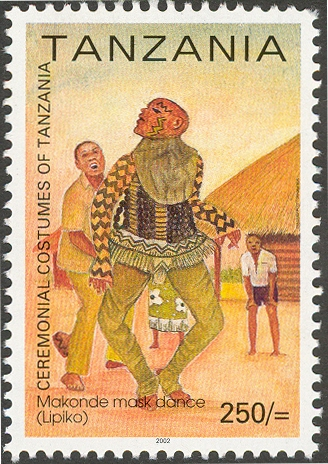Makonde Music Dance - Philately Tanzania stamps